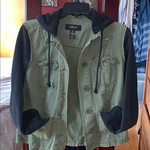 Style & Co Army Green Jacket/Sweatshirt